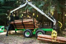 FOREST TRAILER WITH HYDRAULIC DRIVE PCN-10