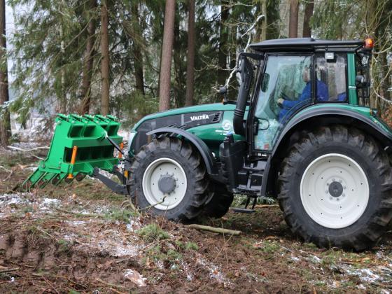 SLASH PILING RAKE ZPI - Ordering clearings and biomass